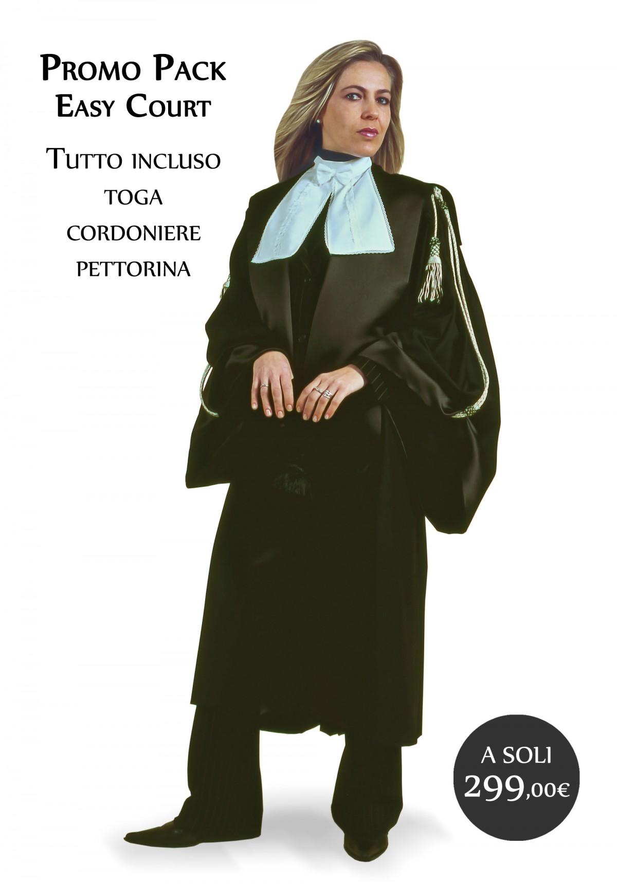 TOGA AVVOCATO UOMO EASY COURT TESSUTO TELA MISTO LANA
